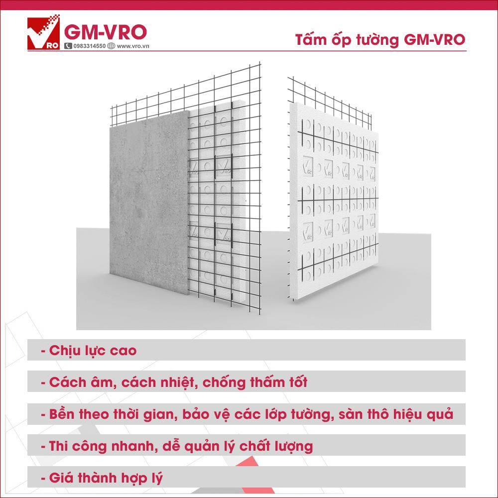 Tấm ốp tường chống nóng, cách âm, chống thấm GM-VRO