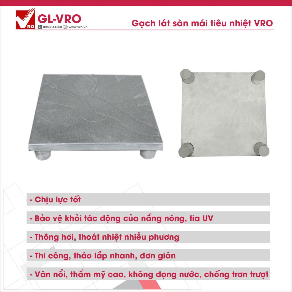 Gạch lát sàn & mái tiêu nhiệt tốt, chống nóng, chống trơn hiệu quả GL-VRO
