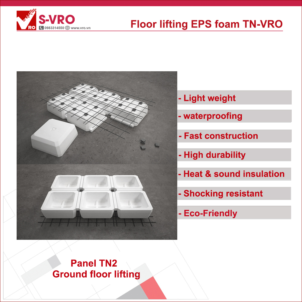 Floor lifting EPS foam VRO (TN-VRO)