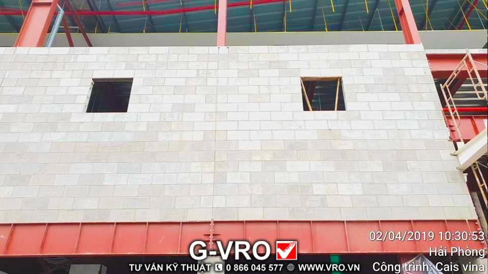 CAIS VINA Factory in Hai Phong using EPS foam core concrete brick G-VRO